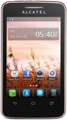 Dual SIM telefon ALCATEL ONETOUCH TRIBE (3040D) Cherry Red