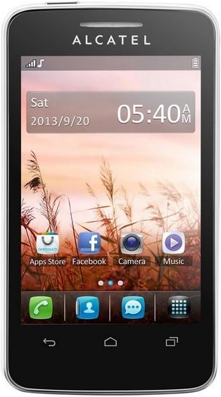 Dual SIM telefon ALCATEL ONETOUCH TRIBE (3040D) Pure White