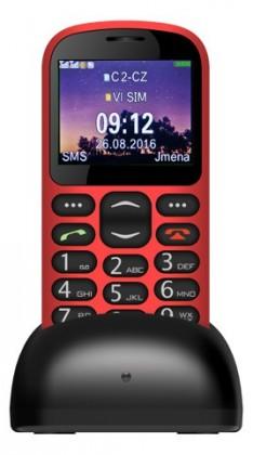 Dual SIM telefon Aligator A880, červená