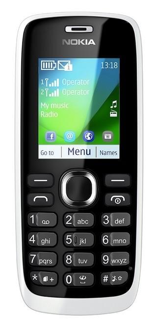 Dual SIM telefon Nokia 112 White