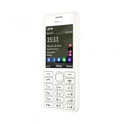 Dual SIM telefon Nokia 206 (Dual SIM) White
