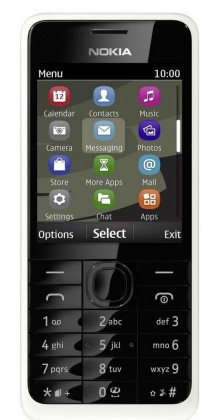 Dual SIM telefon Nokia 301 (Dual SIM) White