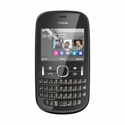 Dual SIM telefon Nokia Asha 200 Graphite ROZBALENO