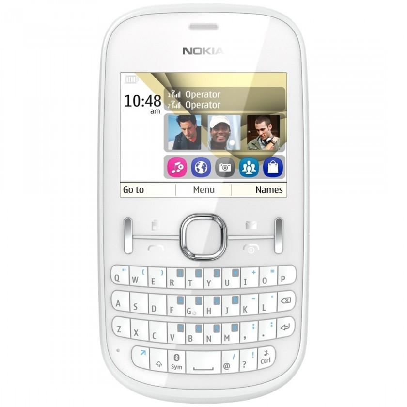 Dual SIM telefon Nokia ASHA 200 White