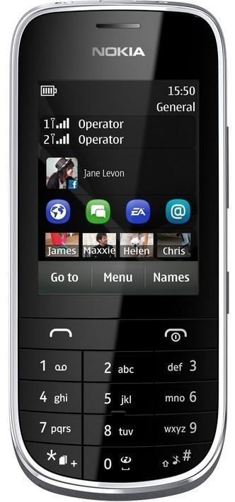 Dual SIM telefon Nokia Asha 202 Dark Grey ROZBALENO