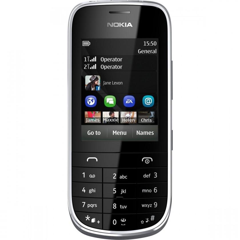 Dual SIM telefon Nokia Asha 202 White