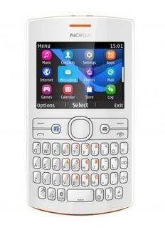 Dual SIM telefon Nokia Asha 205 (Dual SIM) Orange-White