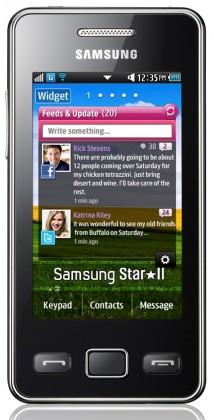 Dual SIM telefon Samsung Star II Duos (C6712), černý