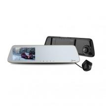 """Duální autokamera Cel-tec M6s, FullHD, LDWS, 5"""" dotykové zrcátko"""