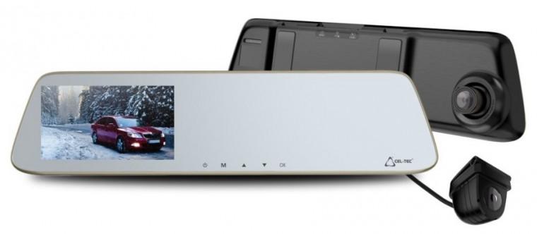 """Duální autokamera Cel-Tec M6s, FullHD, LDWS, 5"""" dotykový displej"""