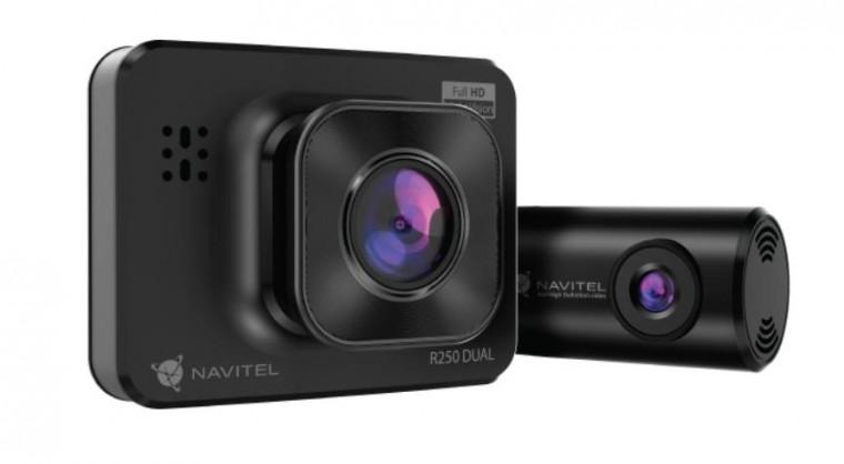 Duální kamera do auta Navitel R250 DUAL GPS, FullHD, 140°