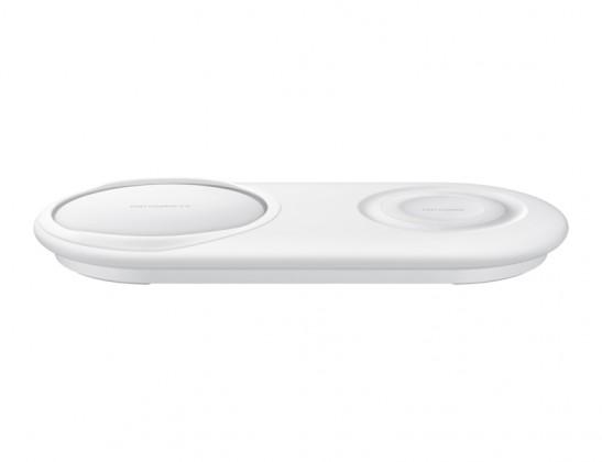 Duální nabíjecí podložka Samsung pro bezdrátové nabíjení, bílá