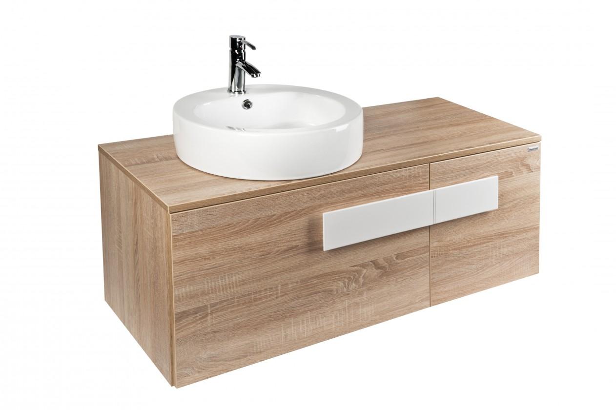 Duero - umyvadlová skříňka záv.,s umyv. Soana 47 cm (dub sonoma)