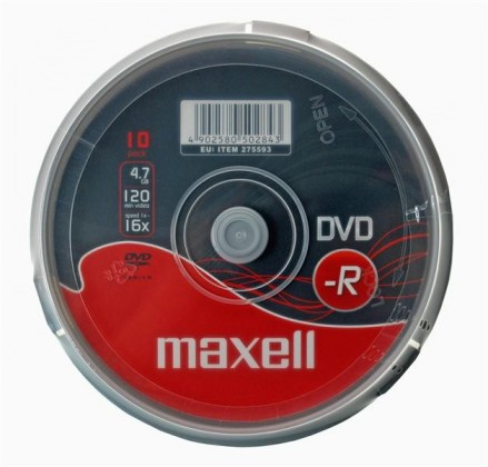DVD MAXELL DVD-R 4,7GB 16X 10 KS