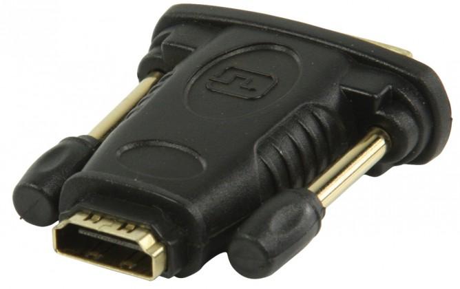 DVI-HDMI adaptér s konektory DVI zástrčka-HDMI vstup,černý