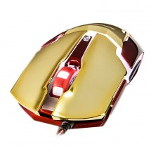 E-Blue myš IRON MAN 3 ARMOR, optická, drátová (USB), zlatá