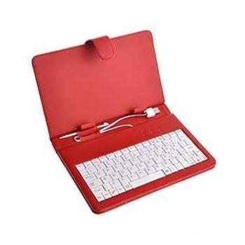 """EAGET 7"""" pouzdro s klávesnicí - červená F7R"""