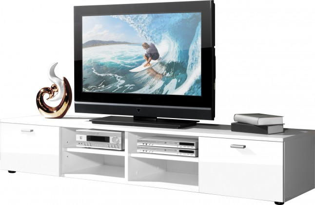 Easy - TV stolek, 3666-84 (bílá/bílá vysoký lesk)