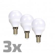 Ecolux WZ4333 LED žárovky,miniglobe,6W,E14,3000K,450lm,3ks