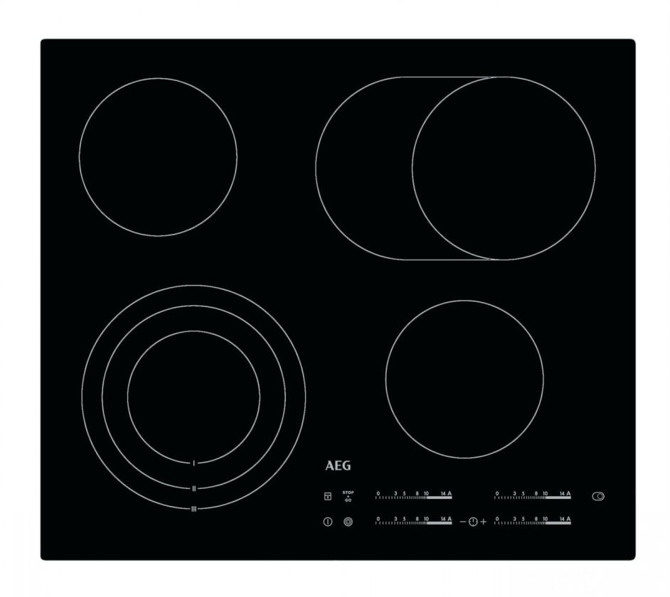 Elektrická deska Sklokeramická varná deska AEG HK 654070I-B