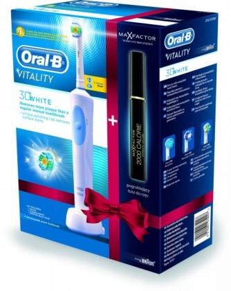 Elektrické kartáčky Braun Oral B Vitality 3D White D12.513 + Řasenka Max Factor ZDARM