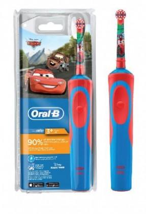 Elektrické kartáčky Dětský elektrický zubní kartáček Oral-B Vitality Kids Cars