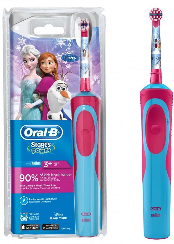 Elektrické kartáčky Dětský elektrický zubní kartáček Oral-B Vitality Kids Frozen