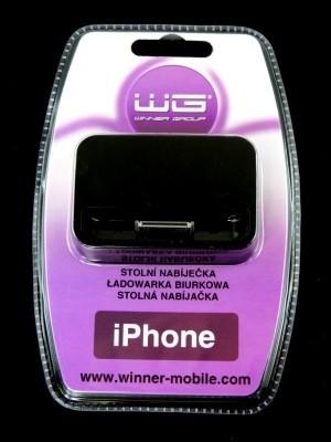 ELEKTRO Stolní nabíječka iPhone 4 black