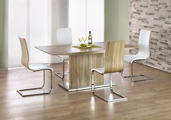 Elias - Jídelní stůl 180x90 cm (dub sonoma, stříbrná)