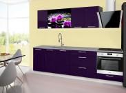 Emilia 2 - Kuchyňský blok A, 260cm (fialová, titan, orchidej)