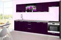 Emilia 2 - Kuchyňský blok H, 300cm (fialová, titan, orchidej)