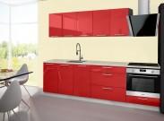 Emilia - Kuchyňský blok A, 200/260 (červená, travertin světlý)