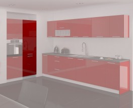Emilia - Spižní skříň, 60 cm (červená)