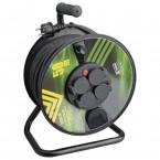 Emos P084501, gumový prodlužovací kabel na bubnu, 4 zásuvky 50m