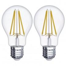 Emos Z742602 LED žárovka Filament A60 A++ 6W E27 teplá bílá,2ks