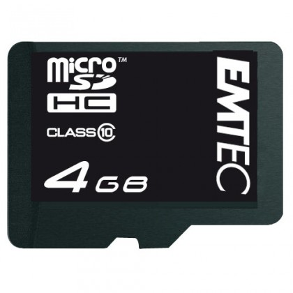 EMTEC micro SDHC 4GB (Class 10)