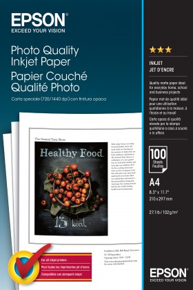 Epson Foto papír Photo Quality InkJet, A4, 100 ks, matný