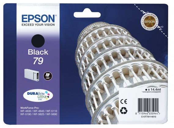 Epson originální ink C13T79114010, 79, L, černý, 14ml