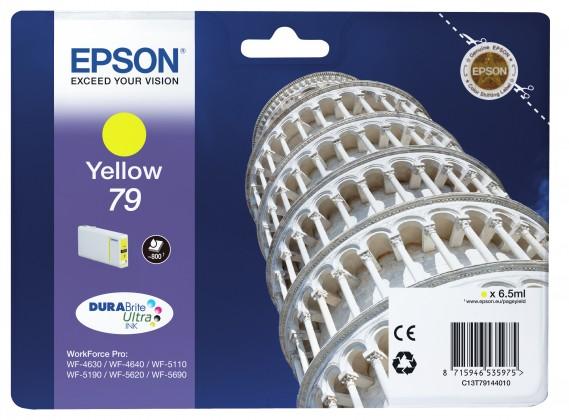 Epson originální ink C13T79144010, 79, L, yellow, 7ml