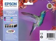 Epson T0807-originální (C13T08074011) černá/červená/modrá/žlutá