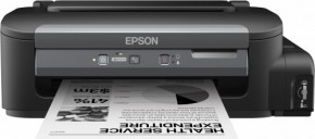 EPSON tiskárna ink WorkForce M100, CIS, A4, 34ppm,ČB1ink,USB,NET