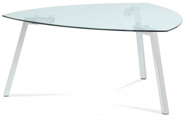 Erika - Konferenční stolek skleněný (sklo, chrom)