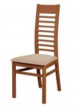 Eryka - jídelní židle (dřevo - tmavý ořech/potah - látka)