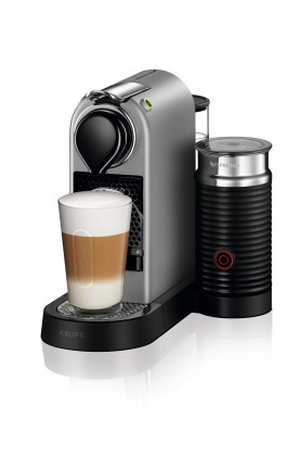 Espresso na kapsle Kapslový kávovar KRUPS Citiz &Milk XN761B10 stříbrný