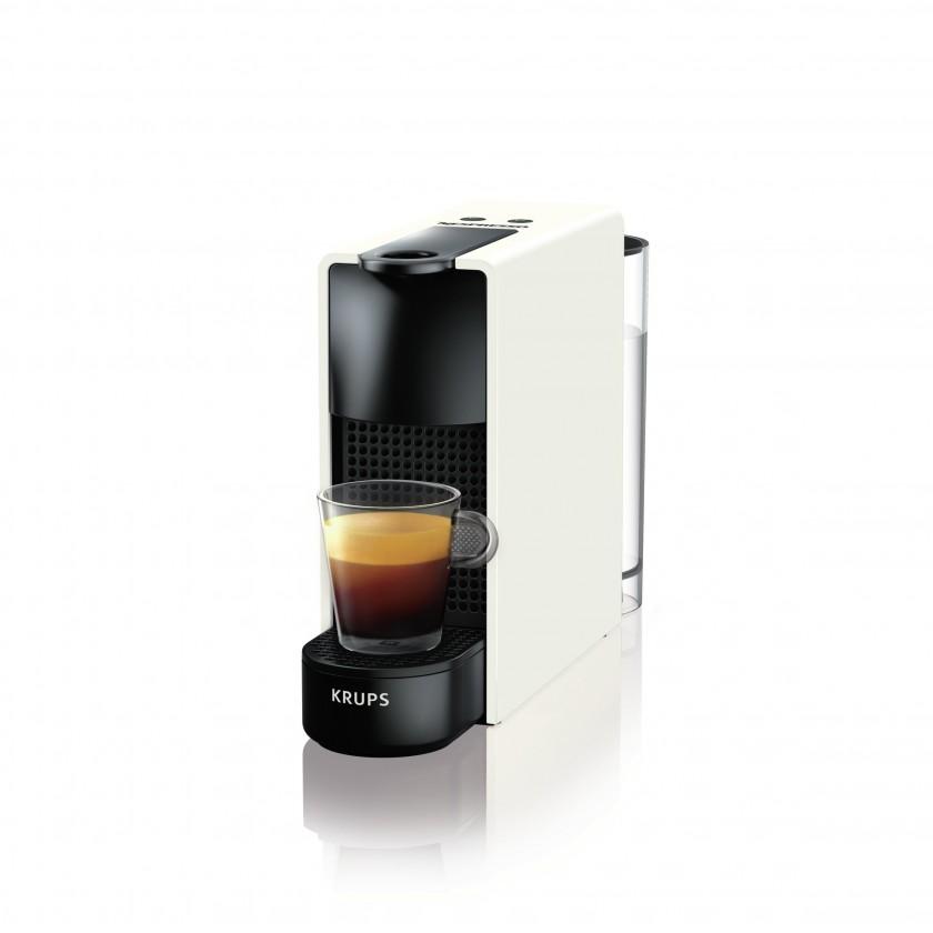 Espresso na kapsle Kapslový kávovar Krups Nespresso Essenza Mini XN110110 bílý