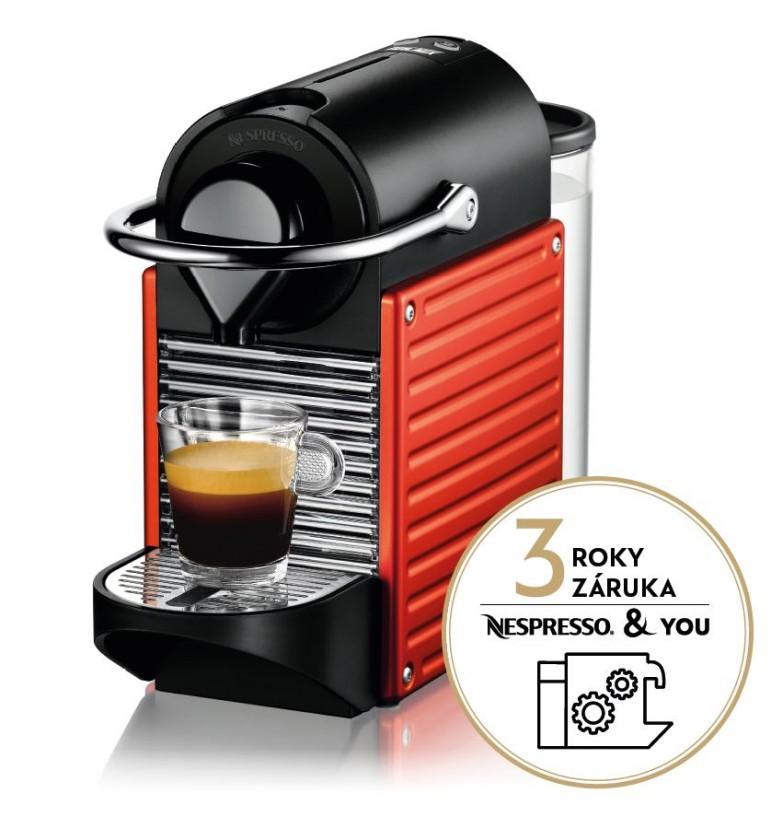 Espresso na kapsle Kapslový kávovar KRUPS Pixie XN304510 červený