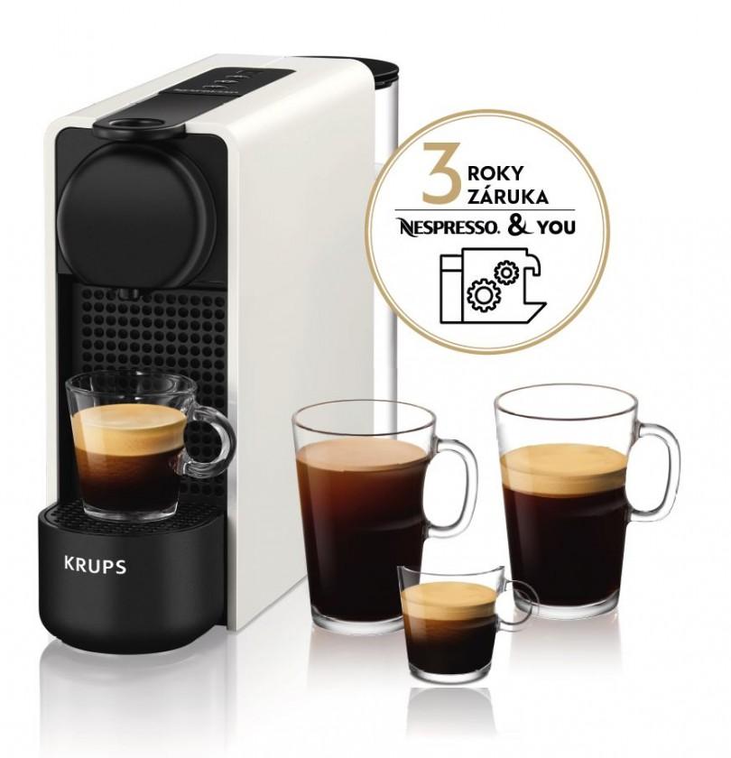 Espresso na kapsle Kapslový kávovar Nespresso Essenza Plus Krups XN510110 bílý