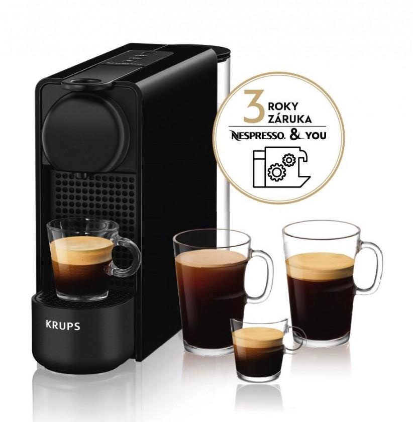 Espresso na kapsle Kapslový kávovar Nespresso Essenza Plus Krups XN510810 černý