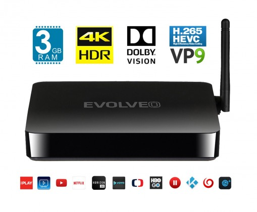 EVOLVEO Android Box H8, Octa Core 4K multimediální centrum