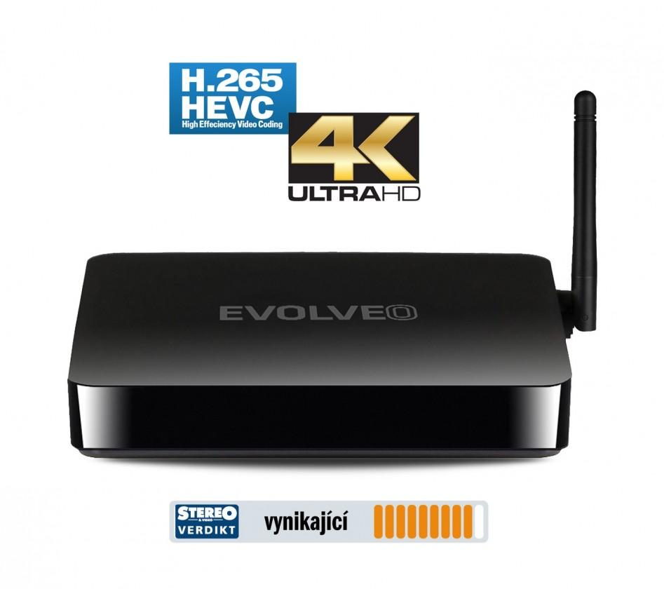EVOLVEO Android Box Q5 4K, Quad Core Smart TV box, 4K video ROZBA